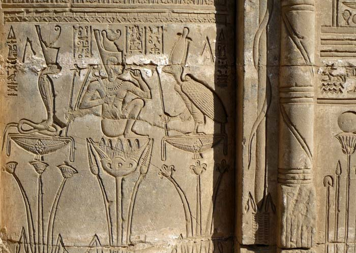 © Marie-Hélène Cingal - Relief depicting Ihy at Dendera