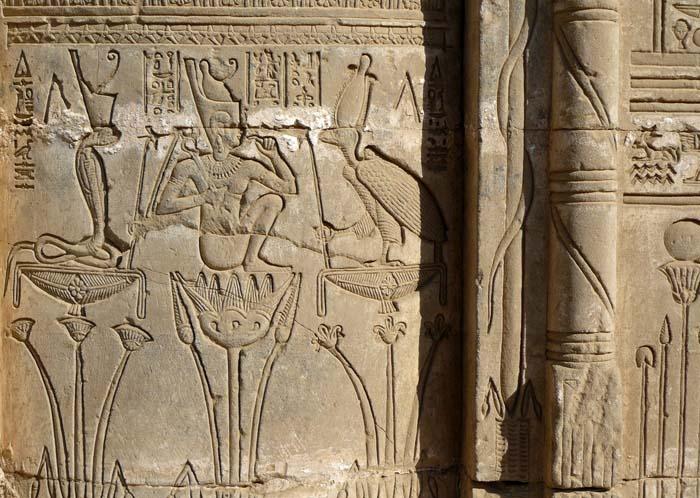 © Marie-Hélène Cingal - Relief depicting Ihy at Dendera