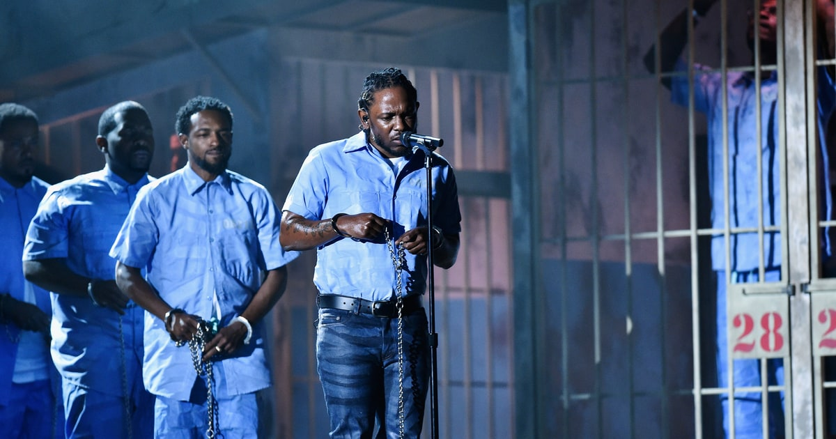 Kendrick Lamar Performance at the 2016 Grammy Awards